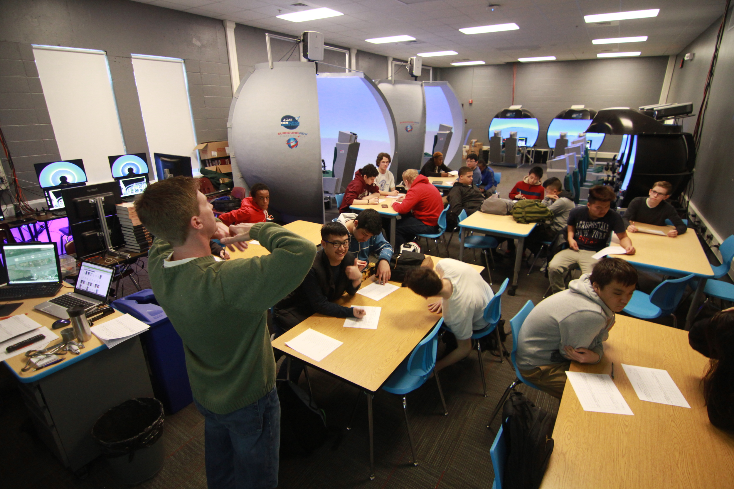 Current Labs - Our labs have helped revolutionize the classroom through the science of flight.Note: Surround-View and DualSeat flight sims are no longer available for sale. They are being replaced by our next-gen LinkLab systems