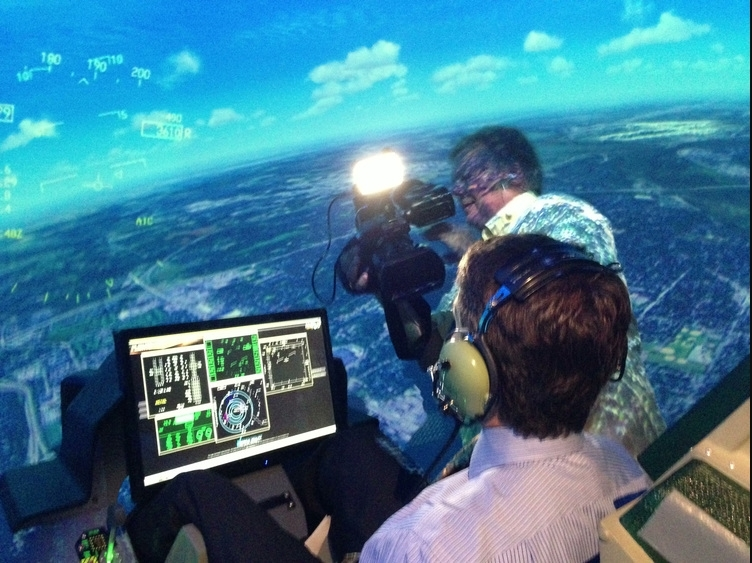 In the News - Our simulators and labs have been covered by the top news stations.