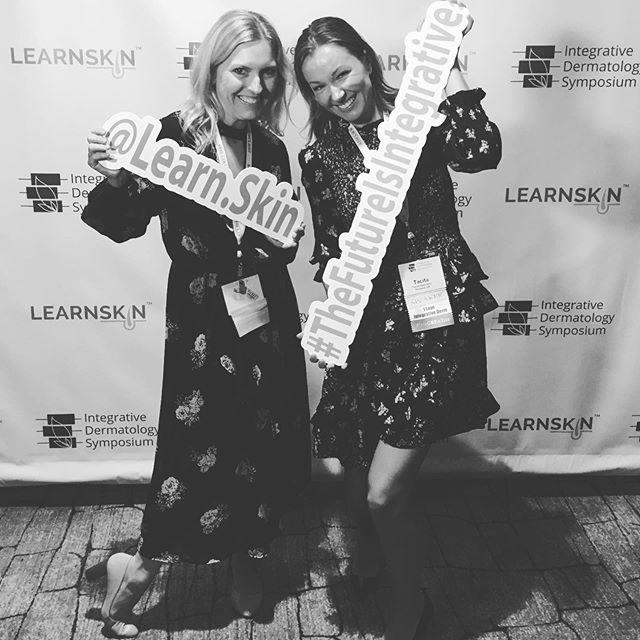 Having fun reuniting with classmate and colleague Dr. Tacita @agreaterwhole as we learn and share expertise at #IDS2019 #inteGREATive @learn.skin #integrativedermatologysymposium