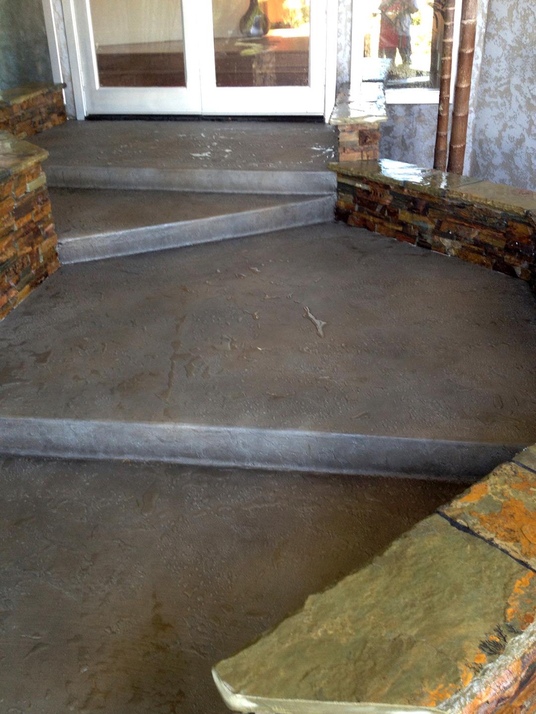 Exterior Concrete Staining