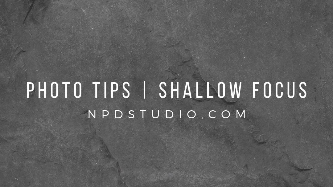 photo tips shallow focus npdstudio
