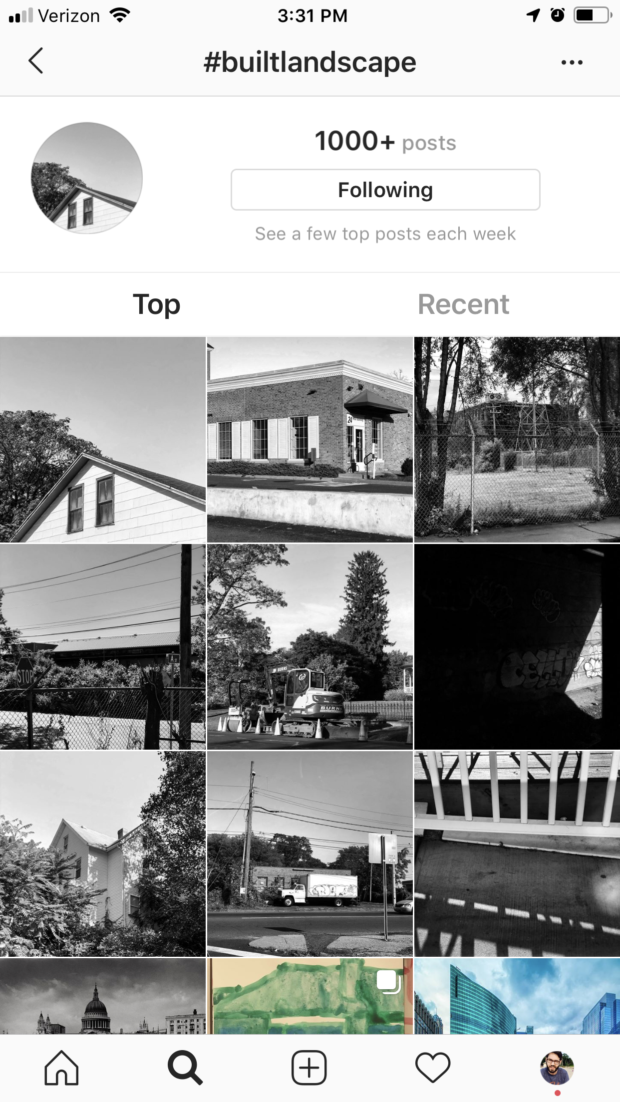 I have personally been using  #builtlandscape  for a while now and It's interesting to see how other people have used it as well. Also kind of feels nice to have hashtag that is mainly my posts.
