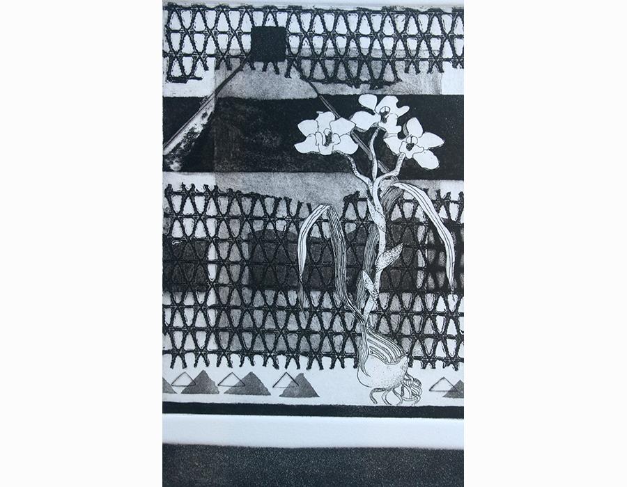 From Lady M - etching, softground, aquartine