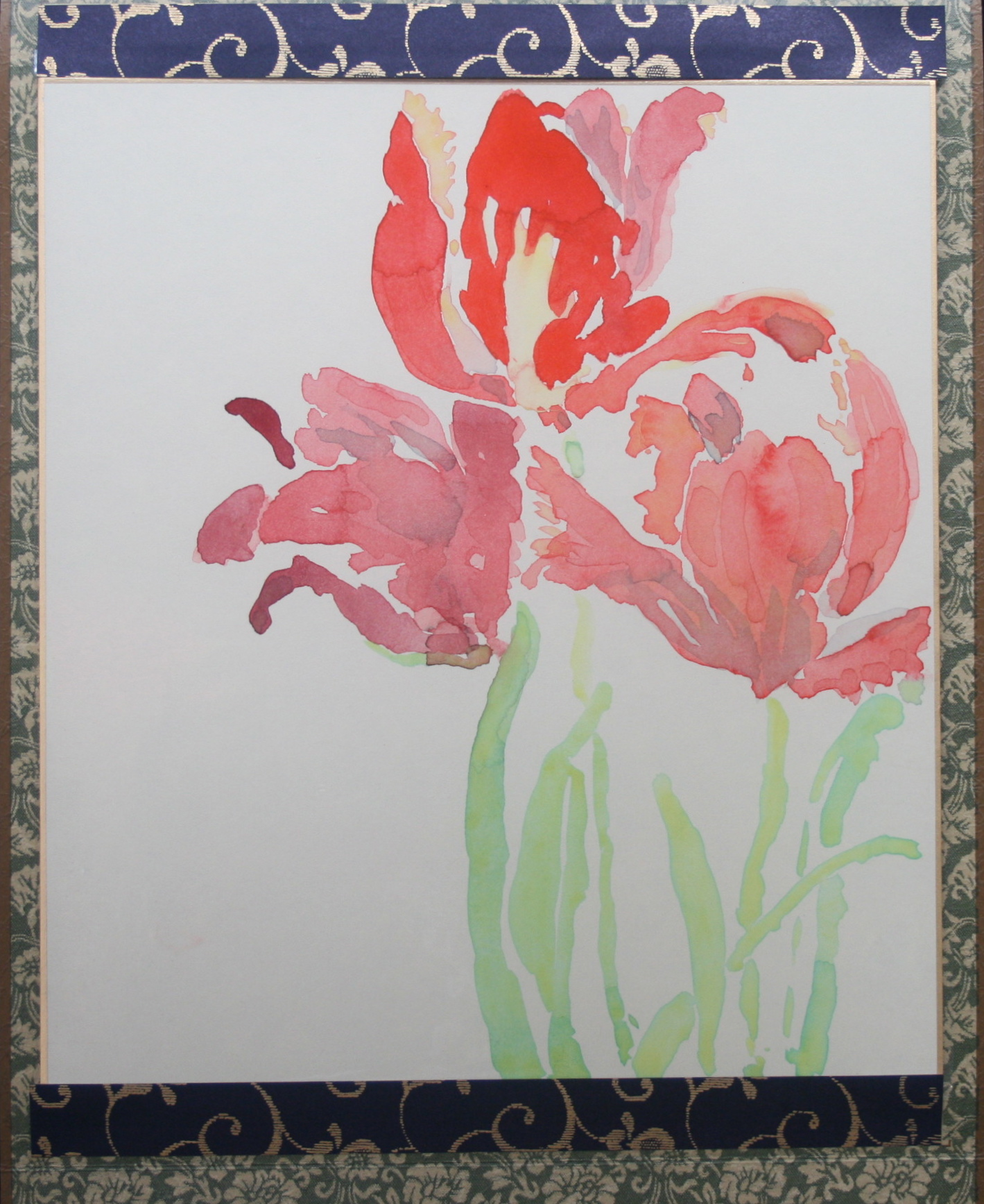 Parrot Tulip Scroll