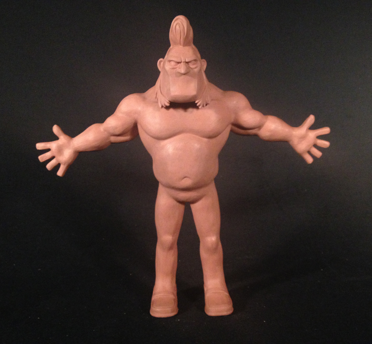 """Brad,""  Ub  ermansion . Adult Swim pilot, Stoopid Buddy Stoodios 2013. Height: 9 inches, chavant."