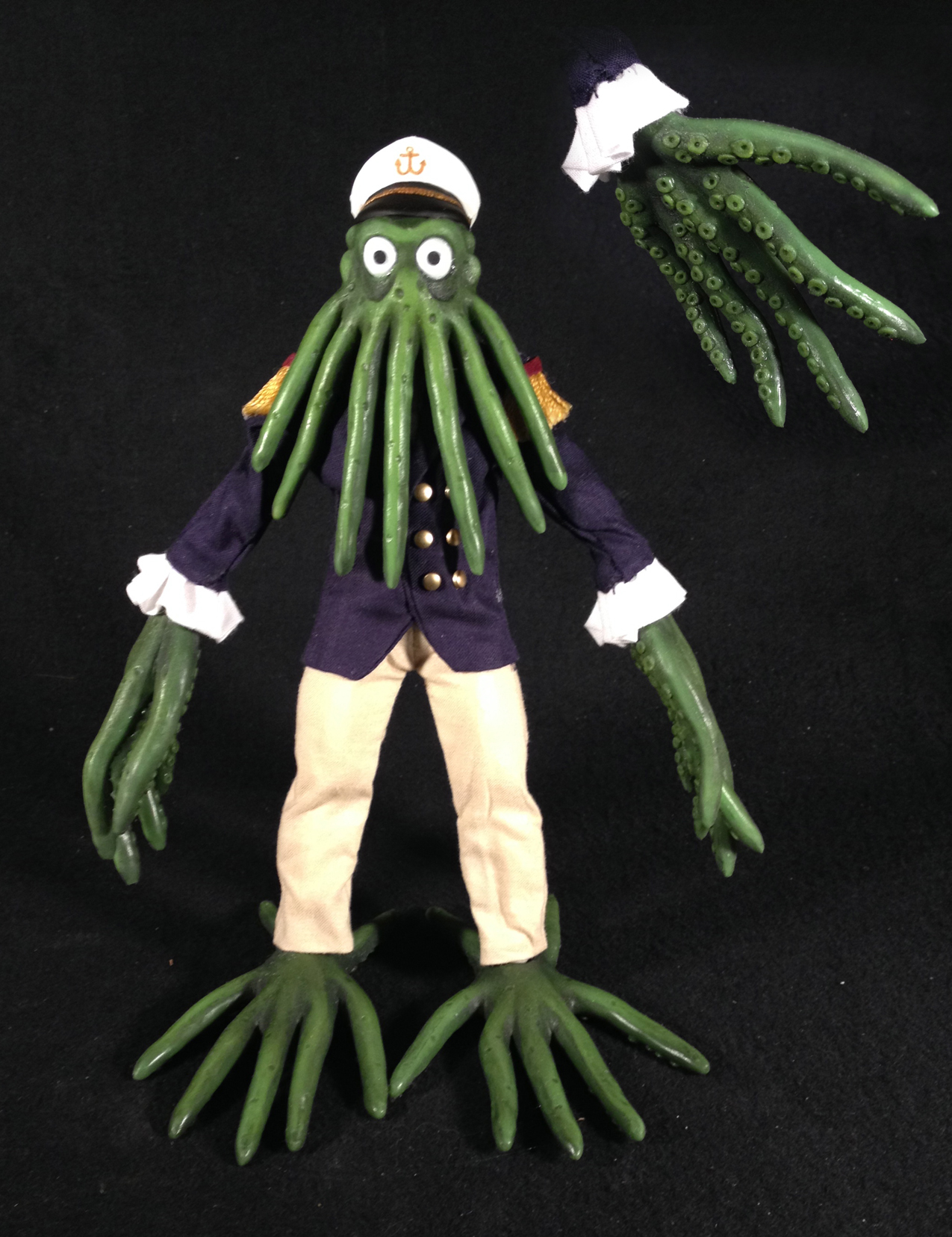 """Squid Monster"" (new original RC character). Silicone.  Robot Chicken  season 7"