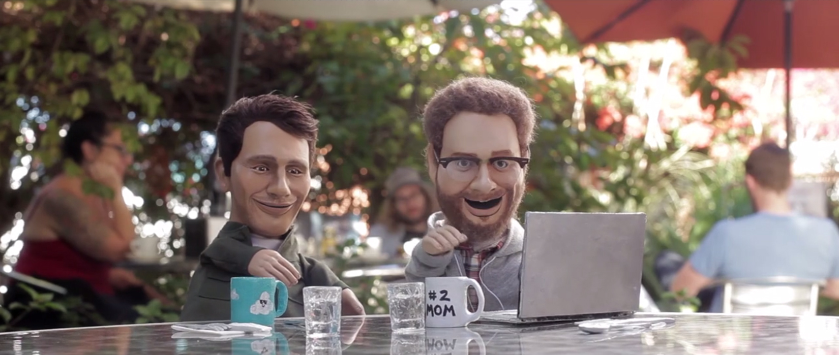 """The Interview  hand puppet commercial spot, """"Love means...""""Director: Cat Solen,Producer: Adult Swim and Artery Industries"""