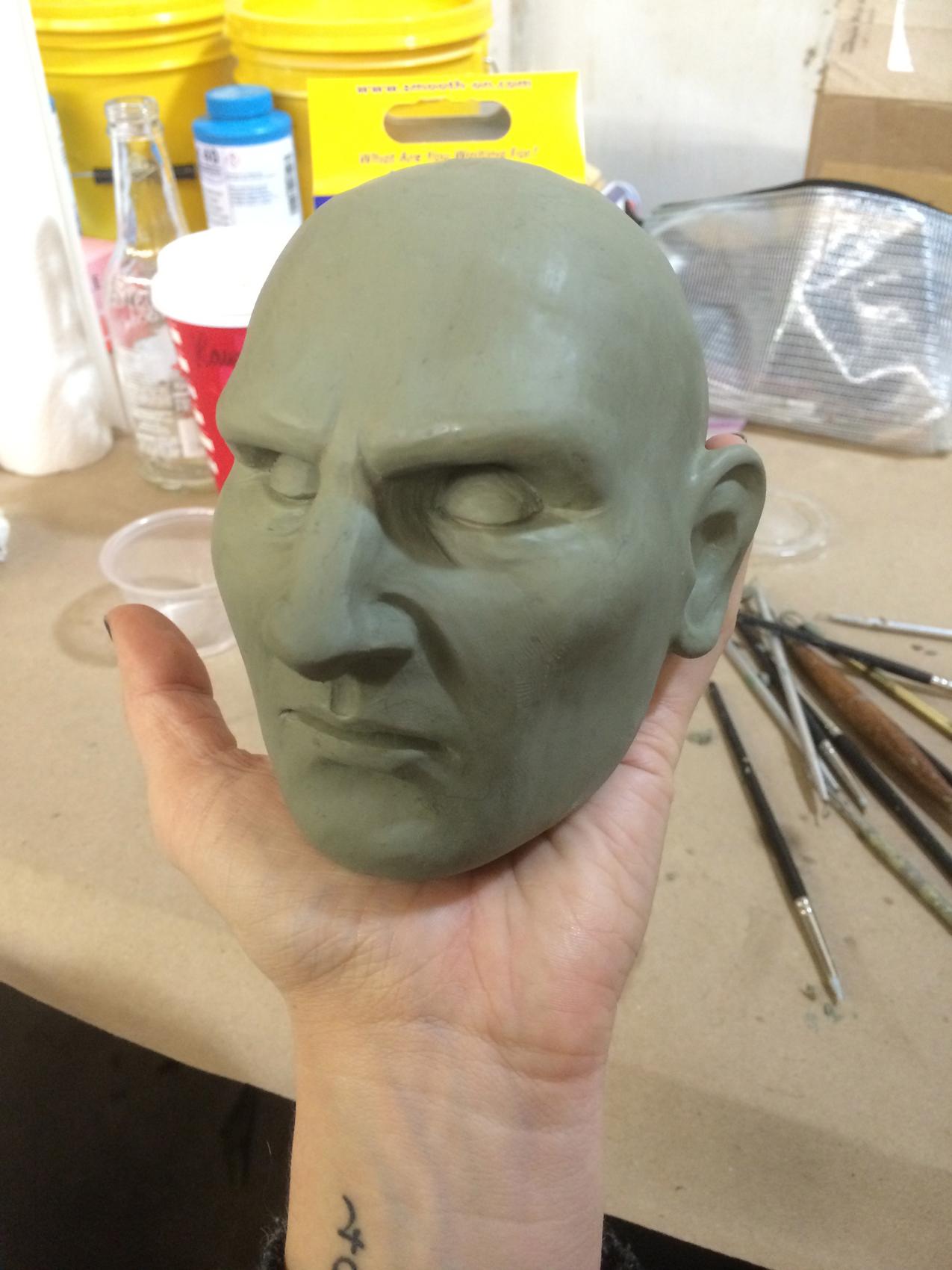 Liam Neeson head sculpt