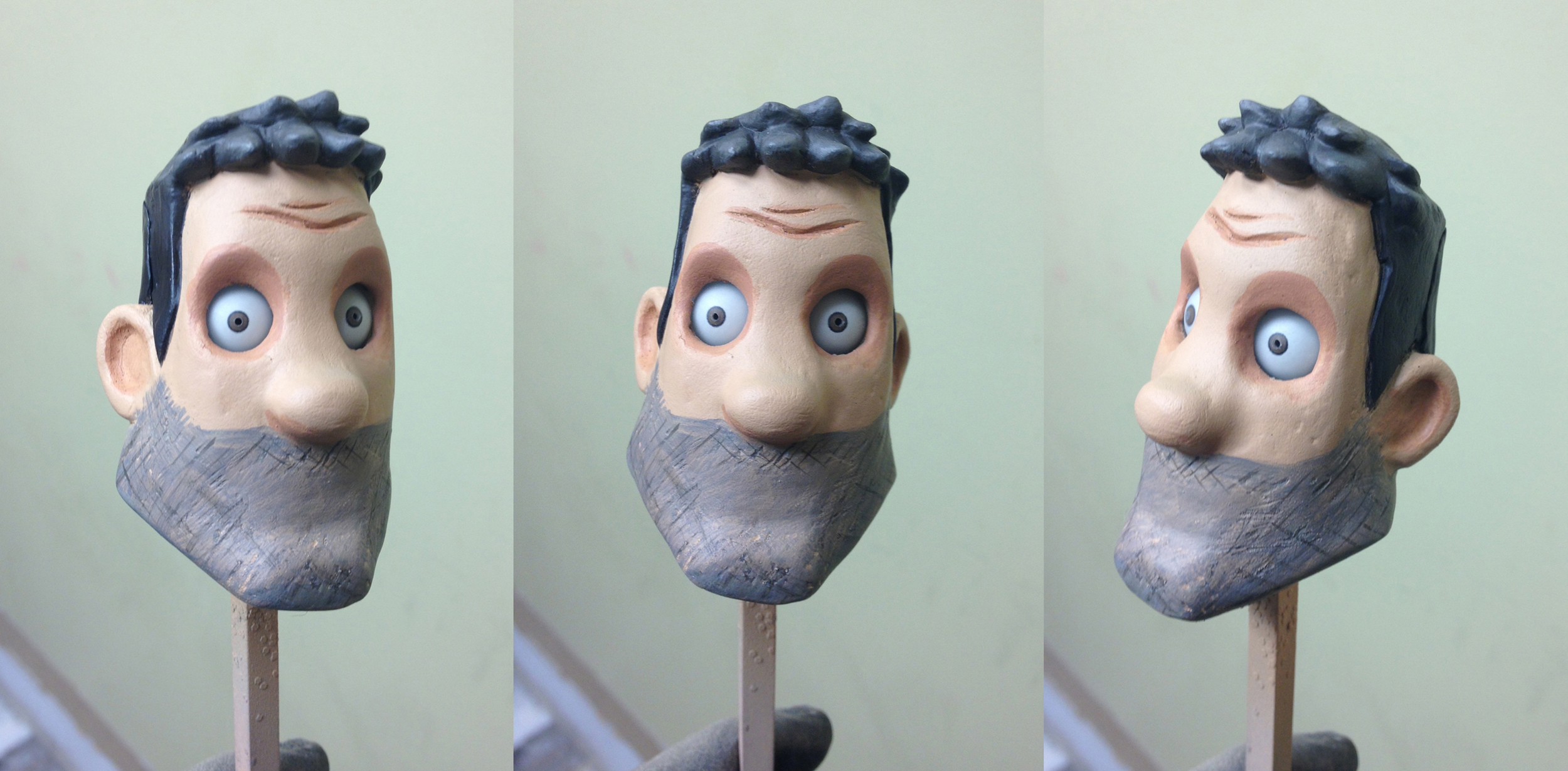 George Clooney puppet head. Height: 3 inches. Cast resin, acrylic paint.  Friendship Allstars of Friendship,   2013