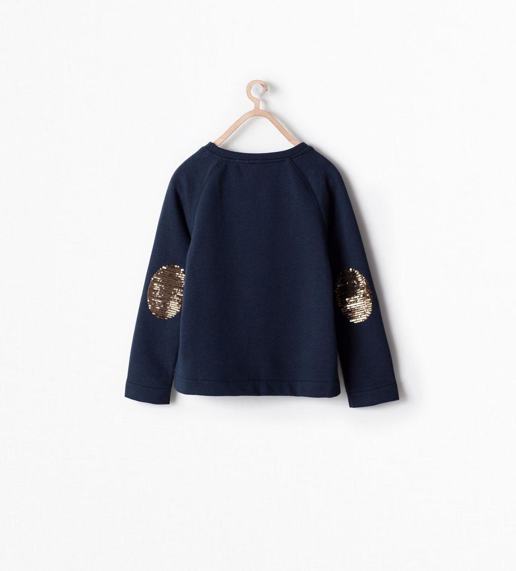 Sequin Morning Sweatshirt at Zara