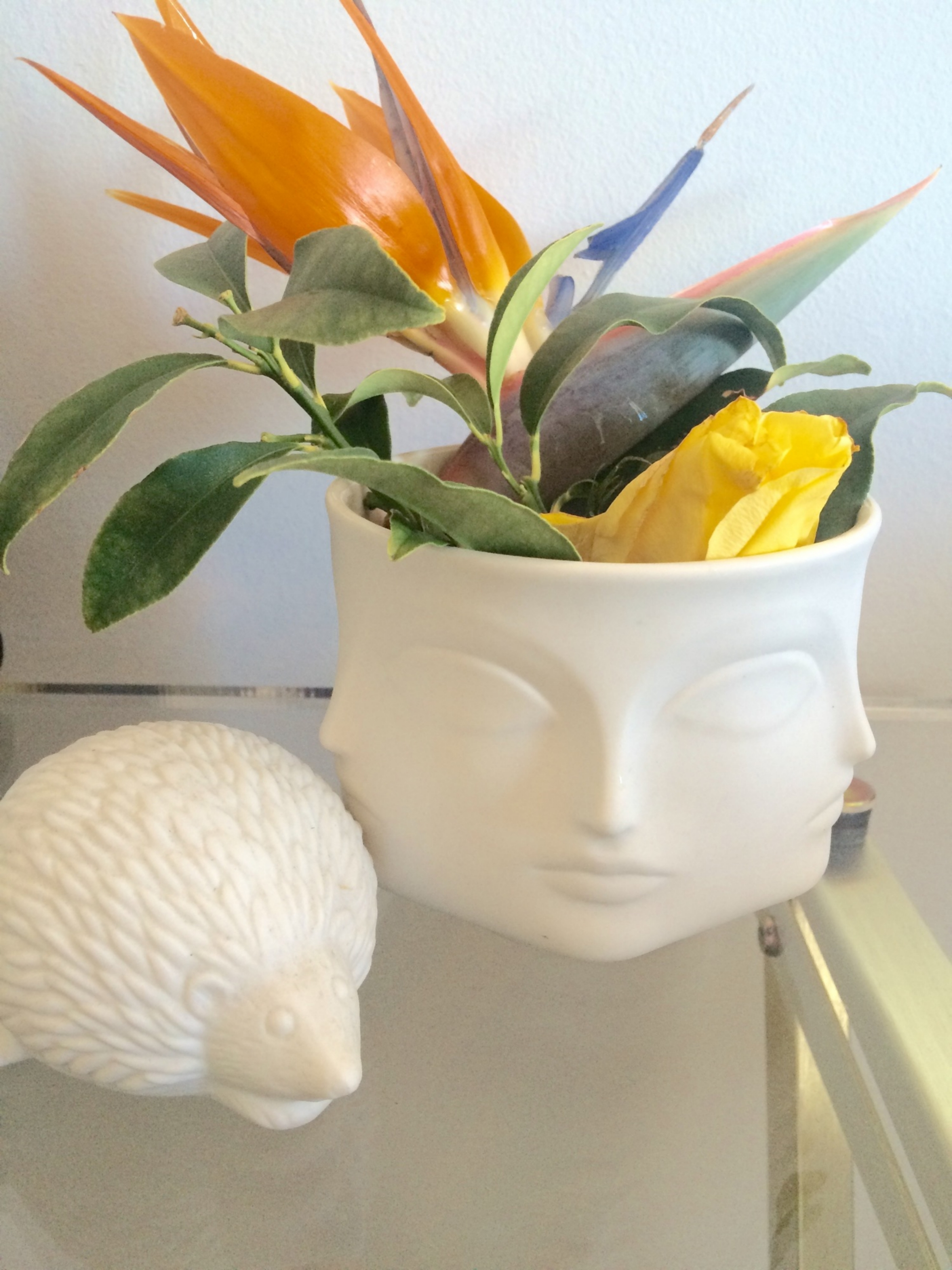 Our old   JA Muse candle   turned into guest room vase!