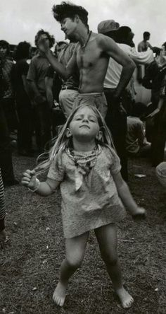 Little Girl dancing at Woodstock- Photographer Unknown