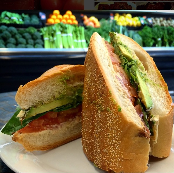 @ORGANIXLA- Instagram - Vegan Caprese Sandwich