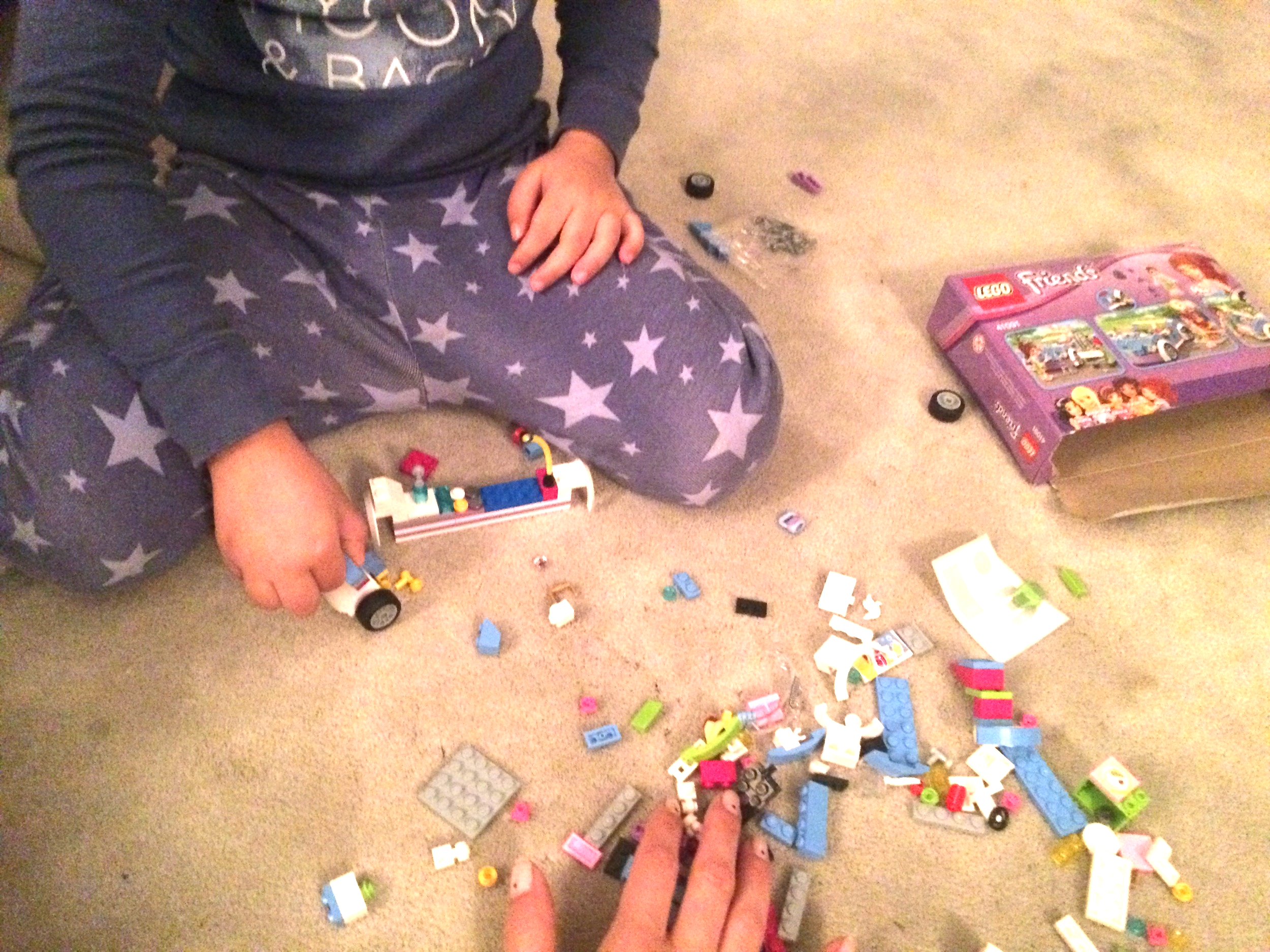Lego time- Those small fun packs are perfect for storing for a sick day