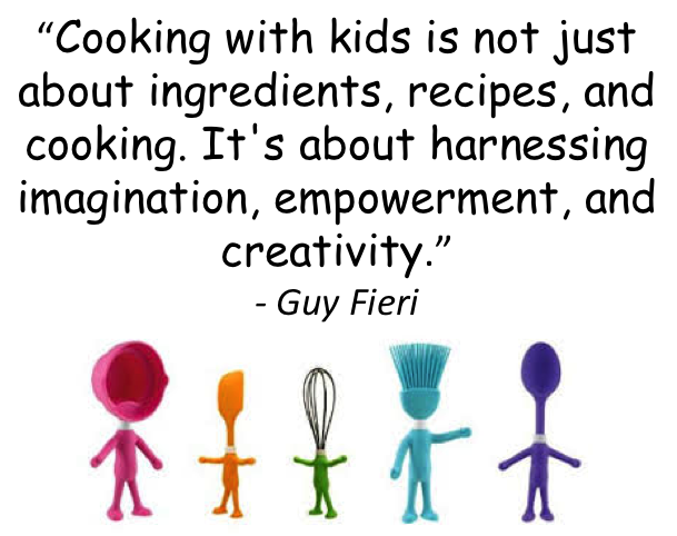 Kids love to cook...let them mix anything they want together and see what happens when you cook it!