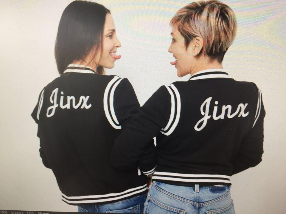 Jinx jackets with custom embroidery. Ph:   Steve Erle.   Bad photo quality: Erin Lokitz...Sorry STEVE!