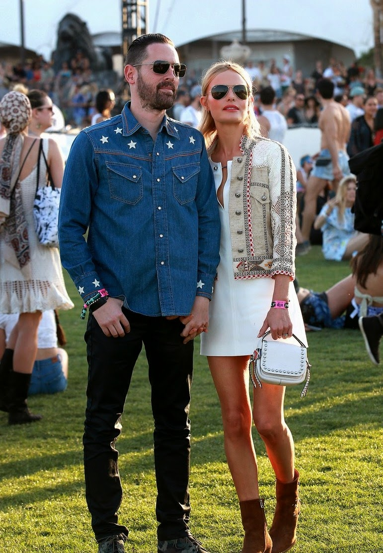 Kate Bosworth & Husband at Coachella in 2015