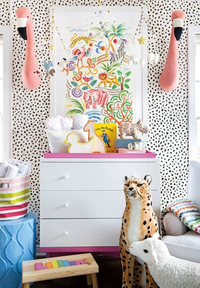 Fireworks wallpaper we have LOVED forever. So whimsical and fun!