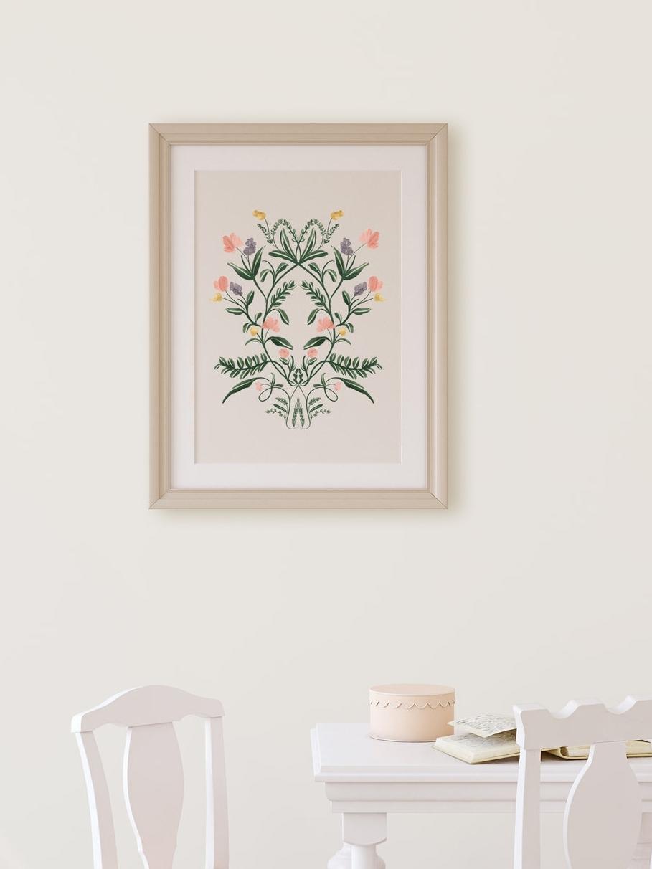 Modern folk art Fine art print