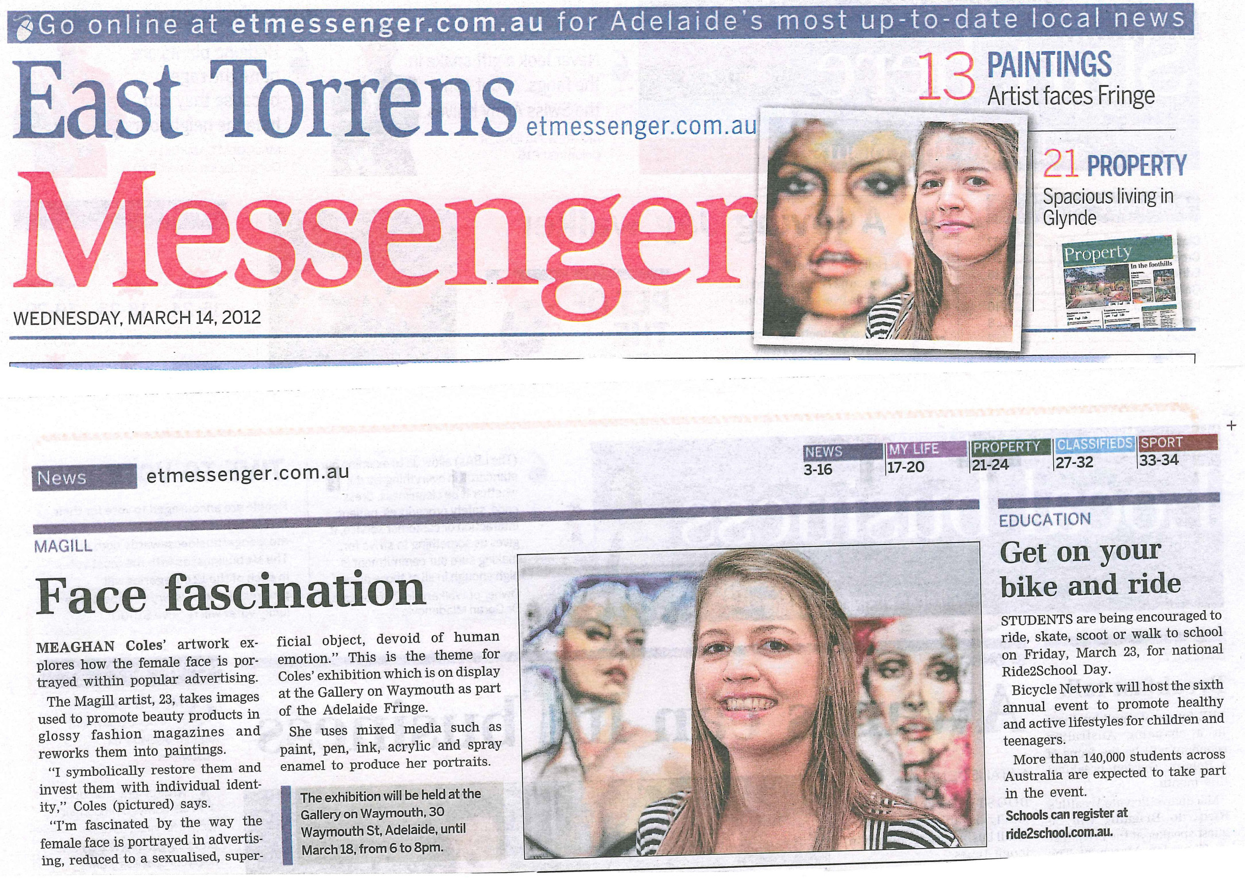 Meaghan - Messenger Article 5th March 2012.jpg