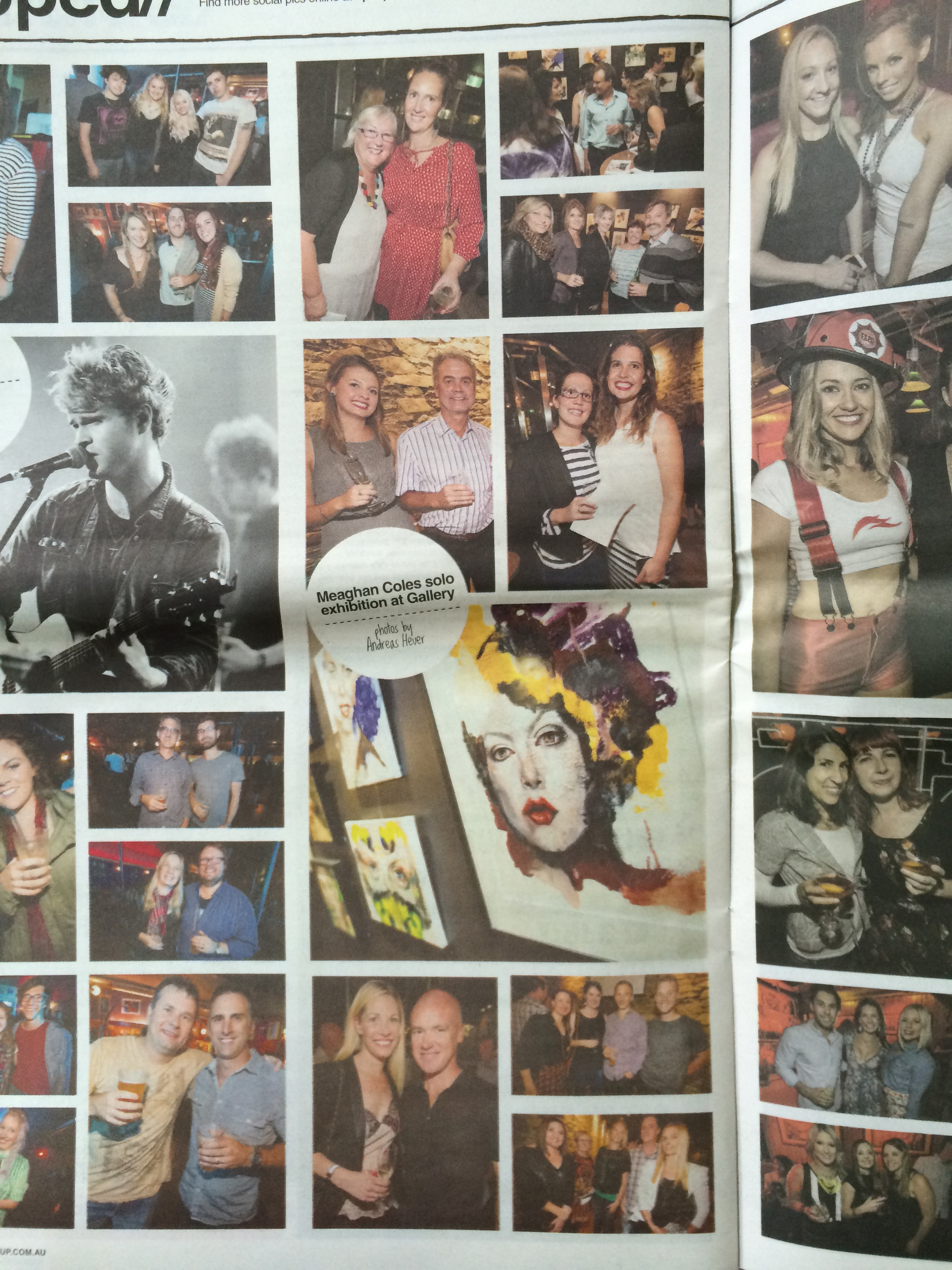 Meaghan Coles solo exhibition at Gallery,    Rip it up, pg 18, Issue 1286, April 17, Adelaide