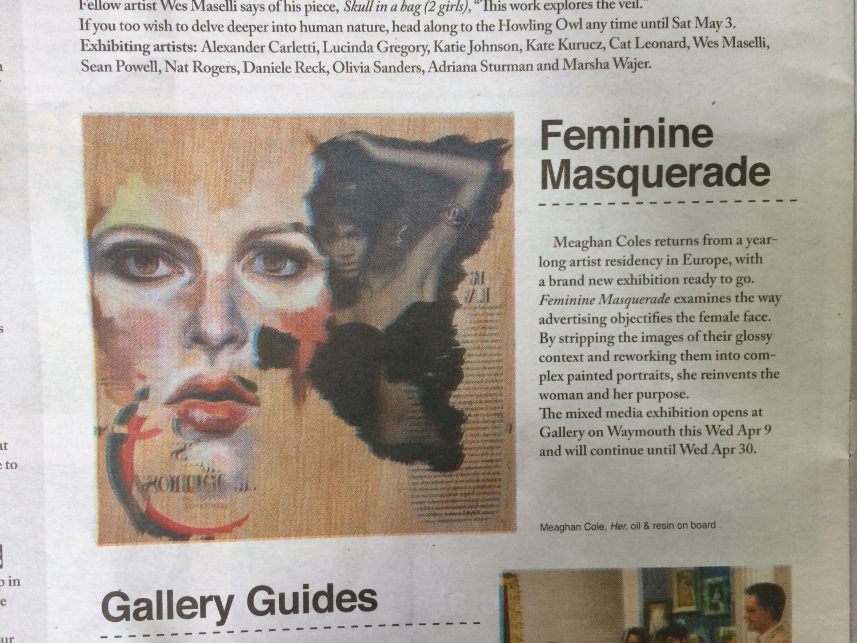 Feminine Masquerade,    Rip it up, Issue 1285, April 10-16, Adelaide.