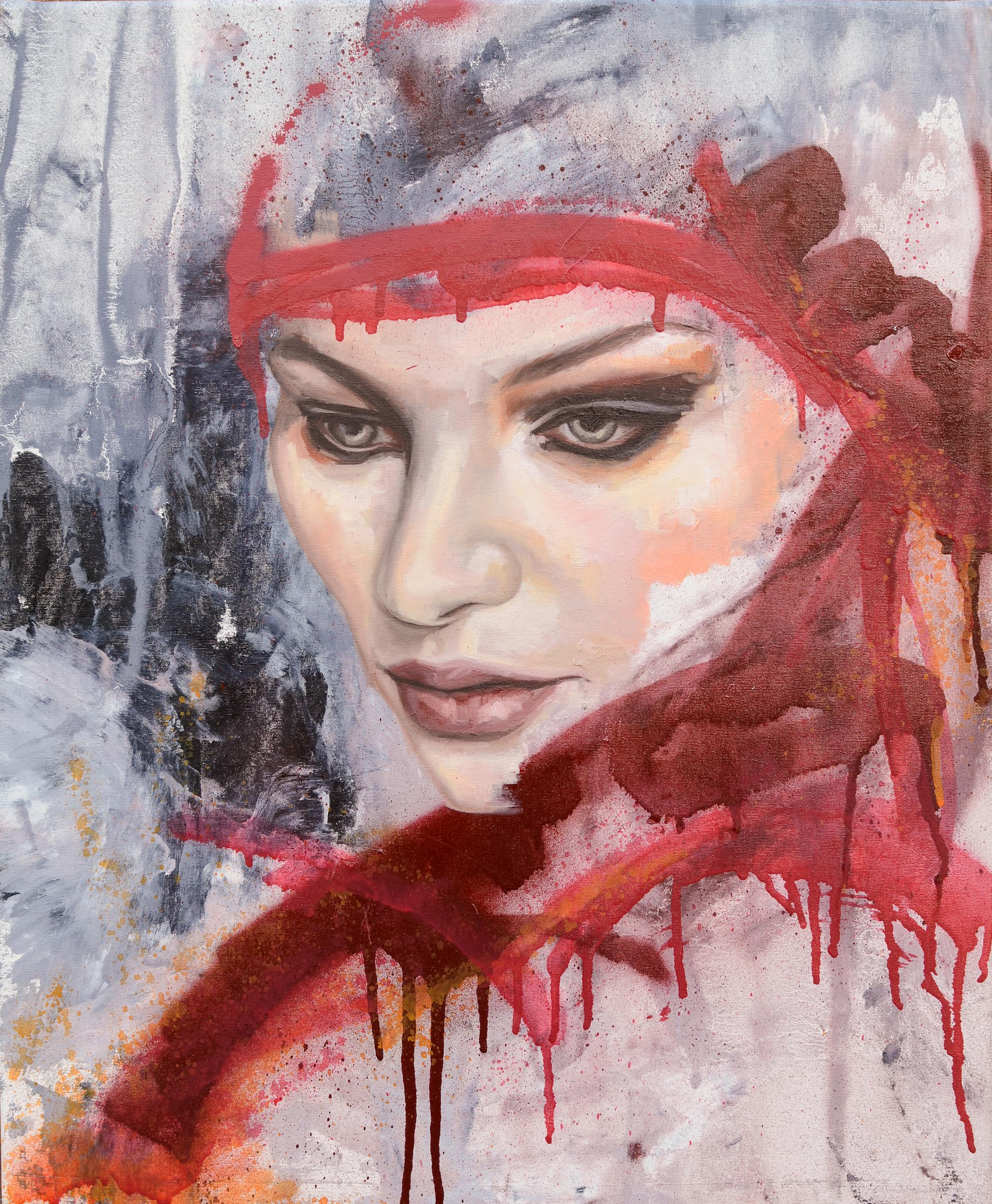 Truth, oil and spray enamel on canvas, 56x46cm, 2014 LG.jpg