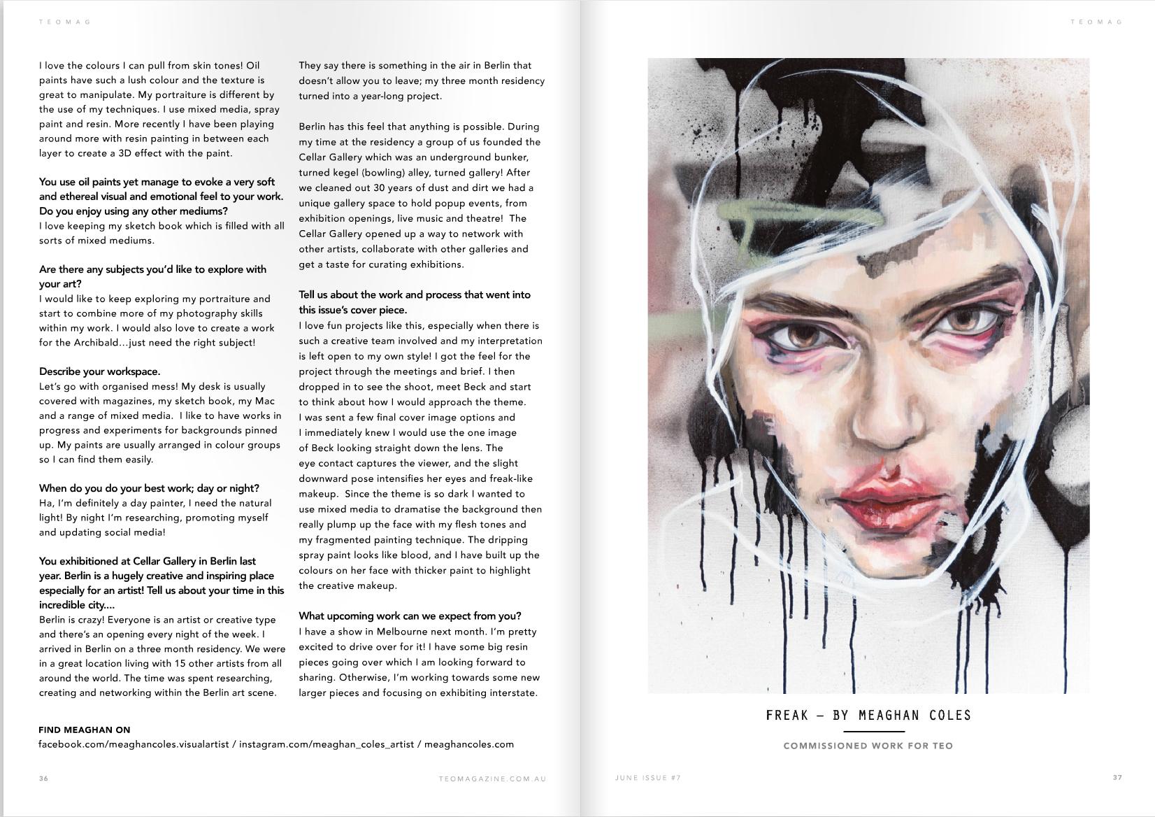 Teo Magazine interview
