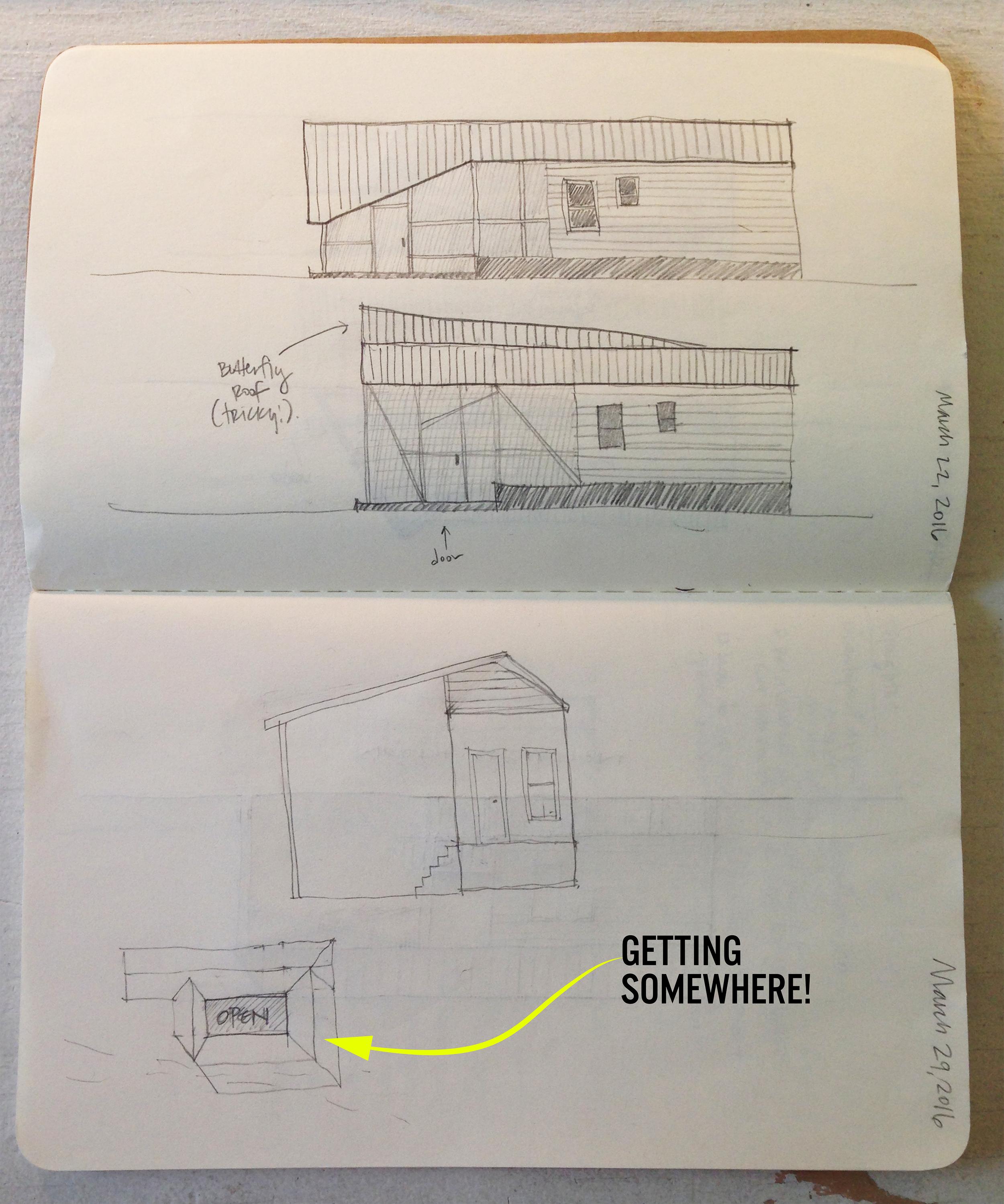 TALLstudio Architecture - Katrina Cottage - Sketch