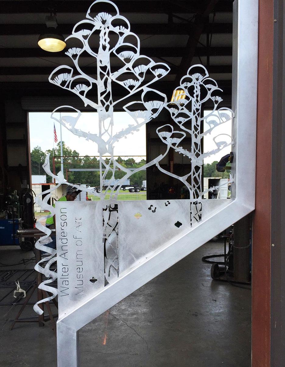 TALLstudio Architecture - WAMA sign in Ocean Springs, MS.