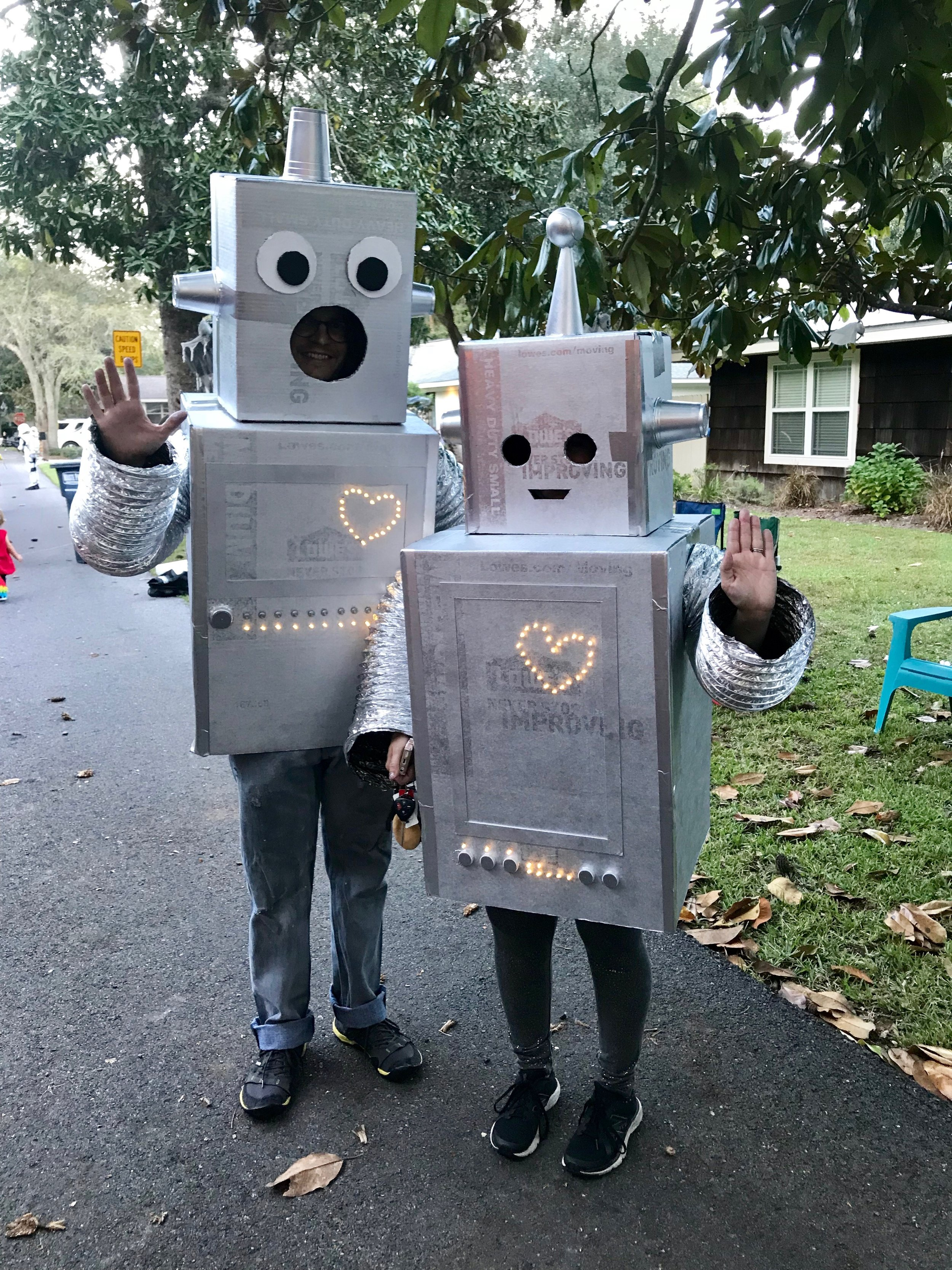 These costumes not only relate to our humor, but also our frugality. You can do some pretty amazing things with cardboard.