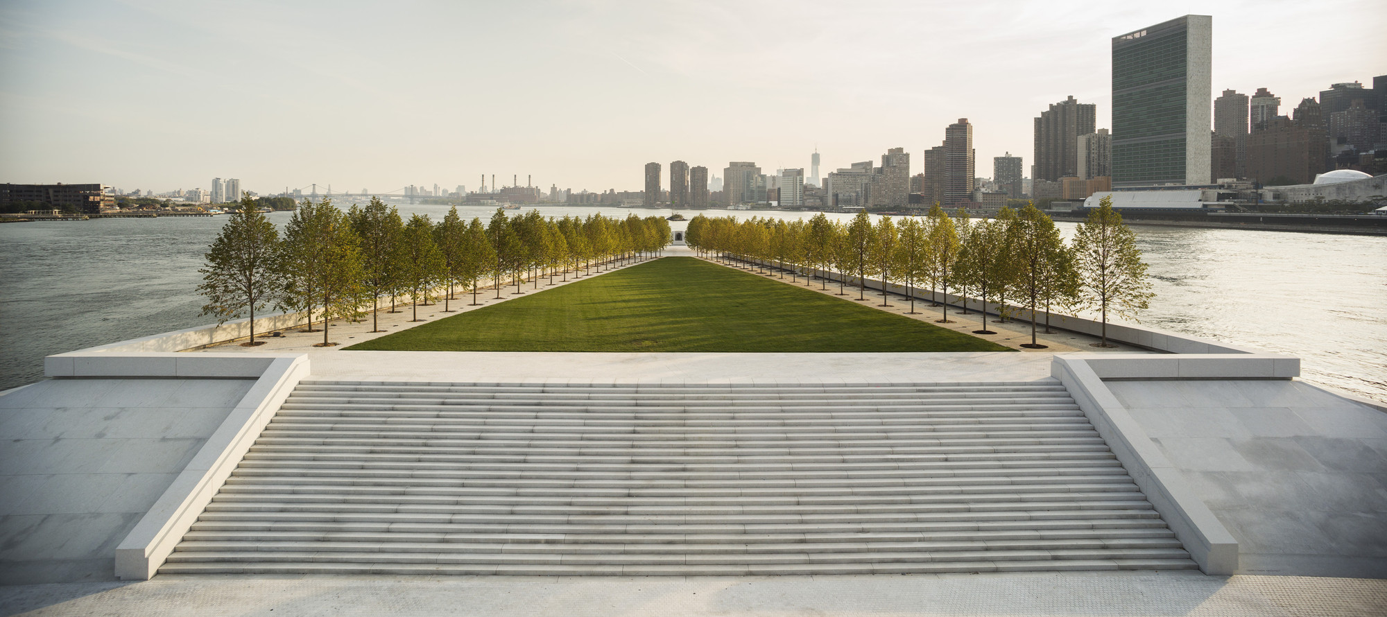 Four Freedoms Park, NYC - Architect, Louis Kahnphoto: ArchDaily.com