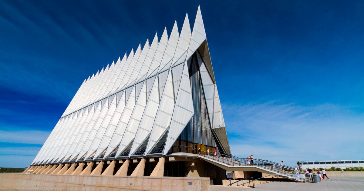 Air Force Academy Cadet Chapel, Colorado - The chapel at the Air Force Academy is very powerful. The daring heights, the craftsmanship, the form, the glass... With our current codes and sustainability goals, it would be almost impossible to recreate this building. (Actually, the last line should say