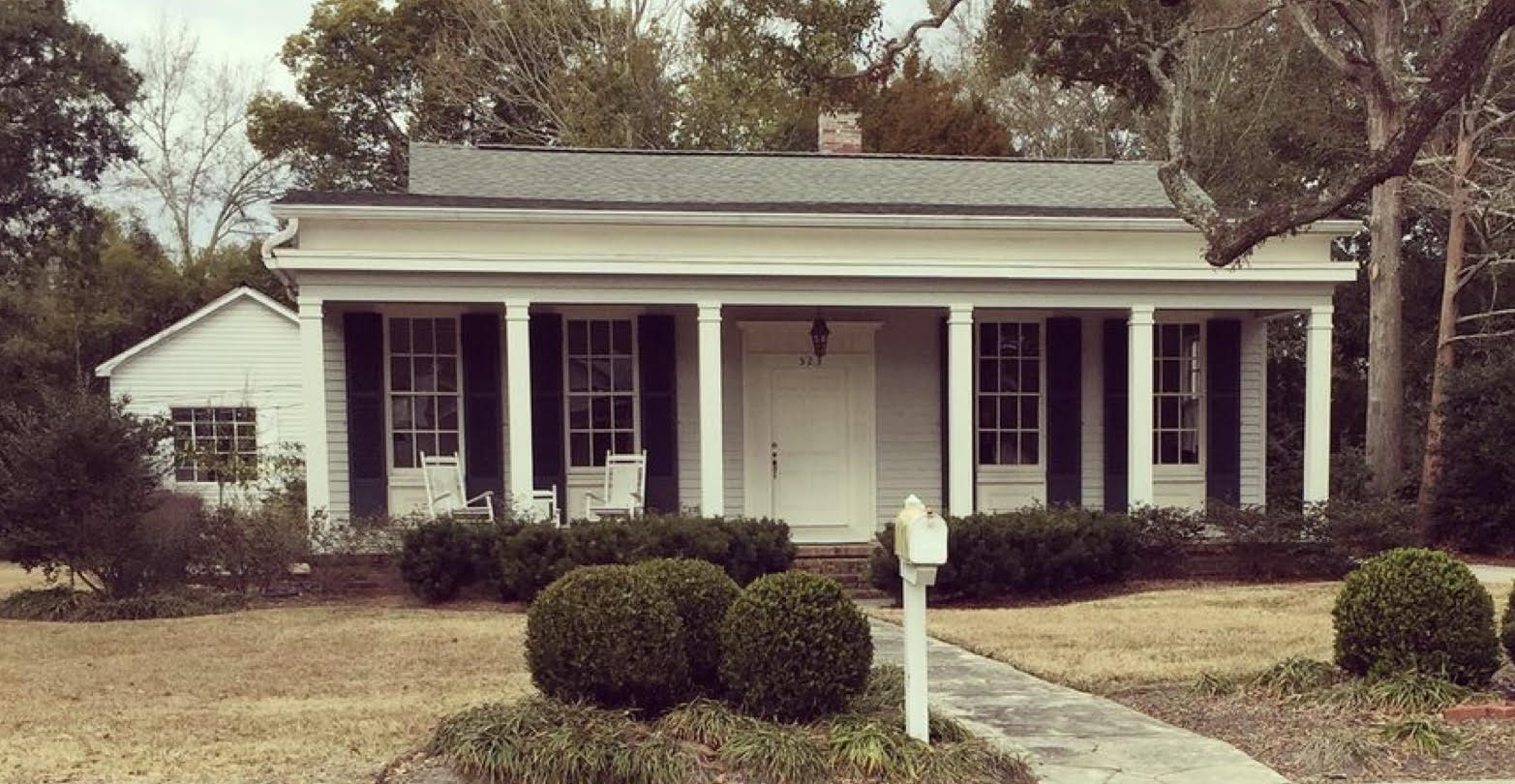 523 Jackson, Ocean Springs - This has long been my favorite house in OS. I've always imagined myself living there, the front door redone with 6 lights and a shiny poison green coat, or 16, of paint.photo: Keith Wooten