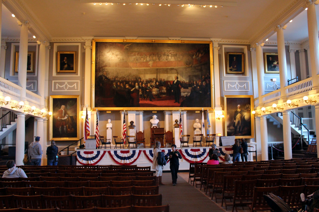 Freedom Hall, Boston - You get the feeling when you walk into the building that this is where America and all we stand for began. It is inspirational on many levels.photo: flickr.com