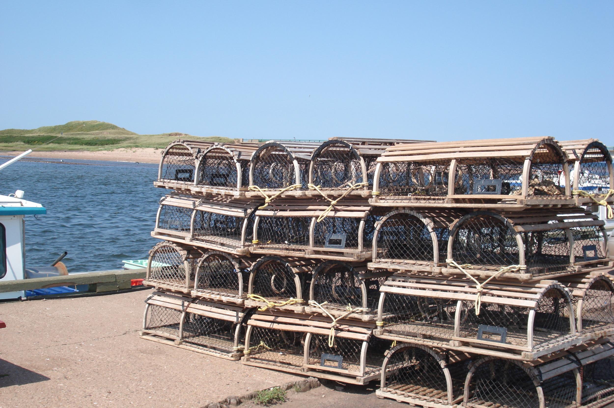 Covehead Wharf - Lobster traps