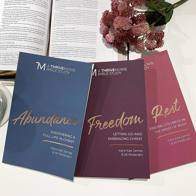 ✨ HOW ABOUT A GIVEAWAY?!? ✨ One super lucky winner will receive all three of my new studies. These Bible studies are written for moms who desperately need a way to dig deep into God's word but don't have a ton of time. Each day is short and sweet but takes you deep. We hope you love them as much as @ali.lou.pedersen and I loved writing them.  TO ENTER TO WIN:  1. Like this post. 2. Comment and let me know which study you'll dive into first. 3. For an extra entry, tag a friend who would love a copy too.  Winner will be selected and announced here on Friday! (This giveaway is not affiliated with Instagram)