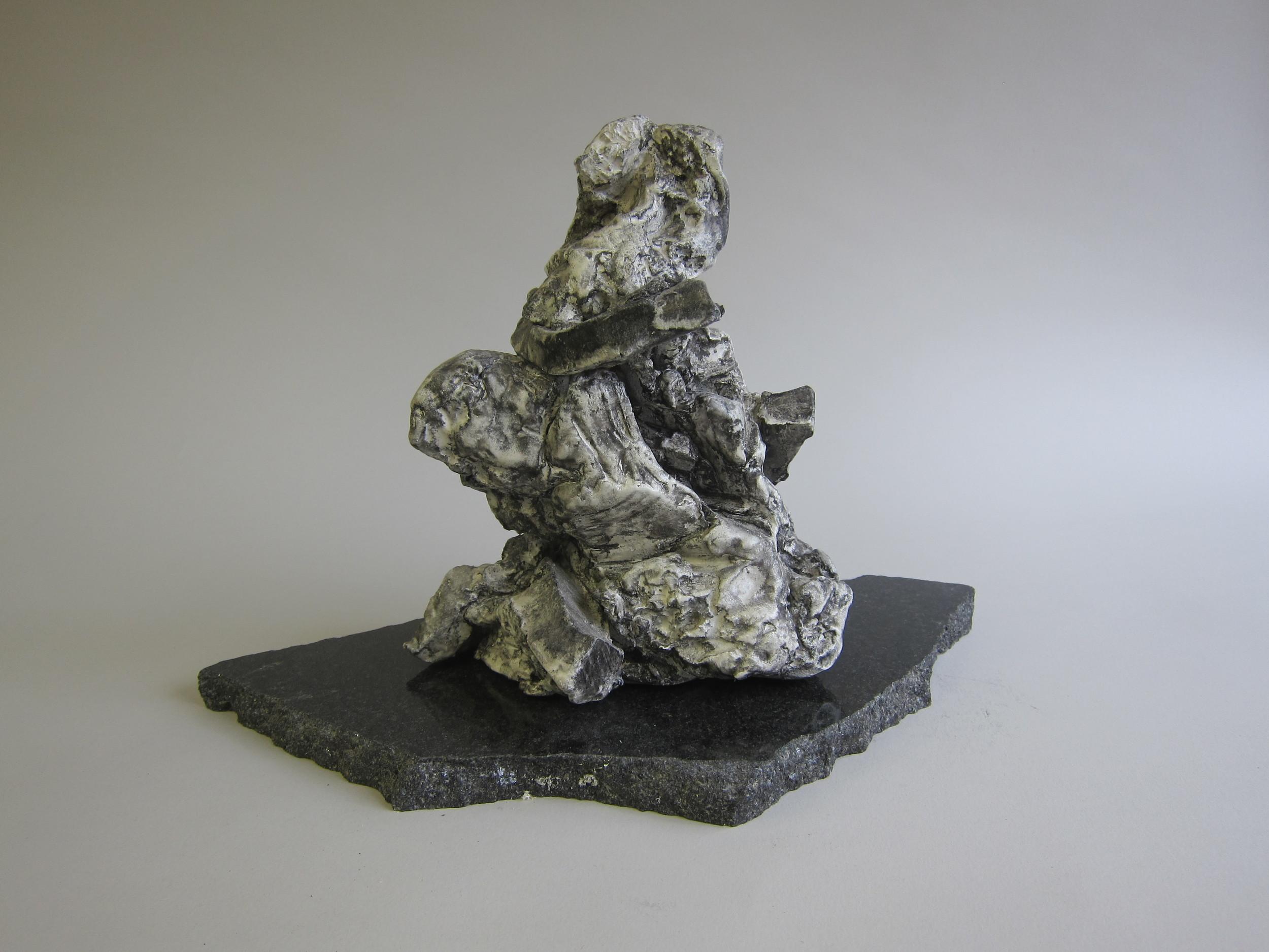 Ceramic, enamel paint, India ink, granite