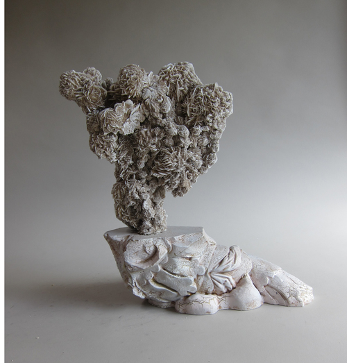 Desert Rose, plaster, urethane foam, crackle glaze paint