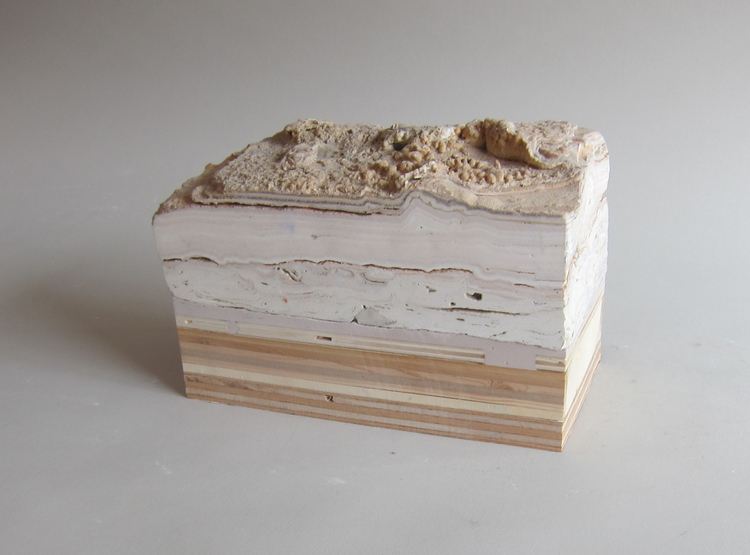 Texas limestone, plywood