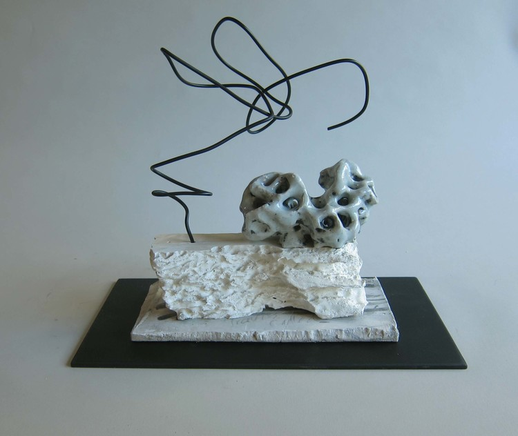 Ceramic, aluminum wire, plaster, Masonite