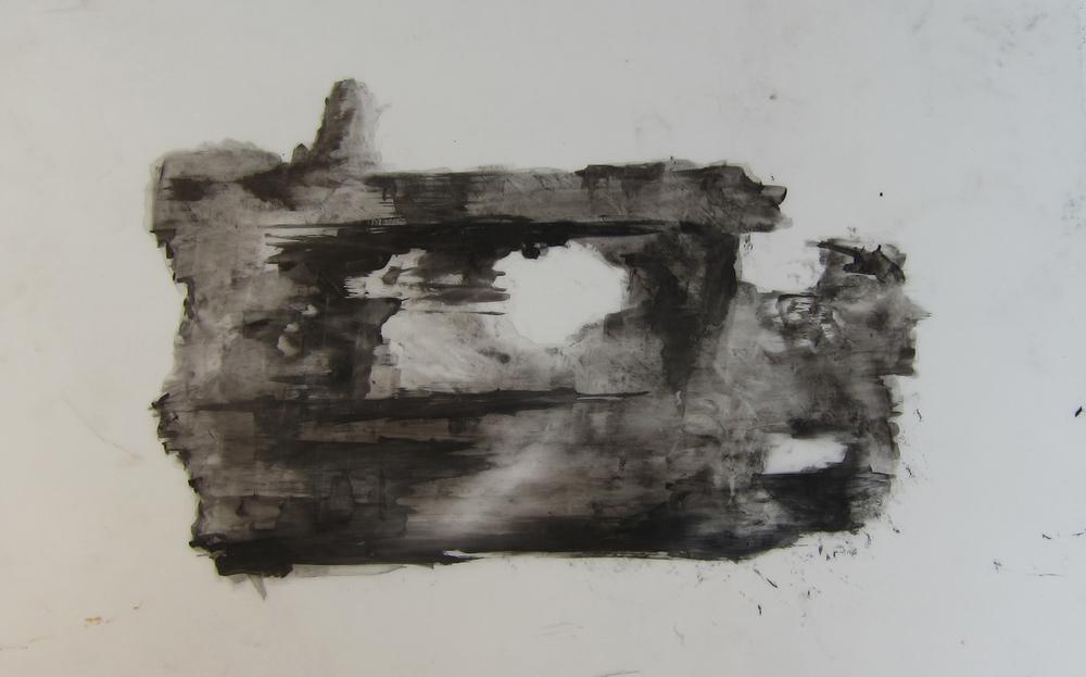India ink on ink jet film