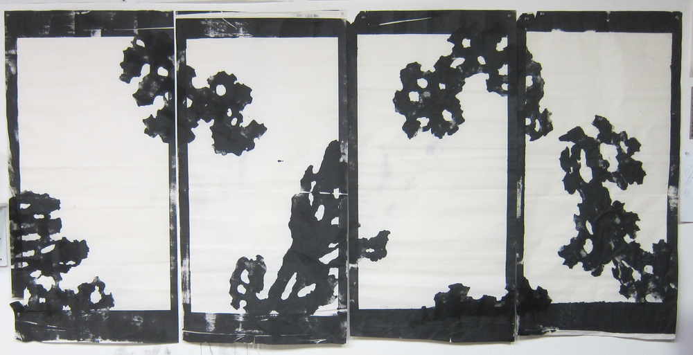 India ink and tempera on rice paper