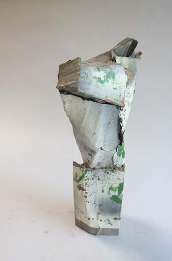 Cardboard, enamel paint, acrylic resin.