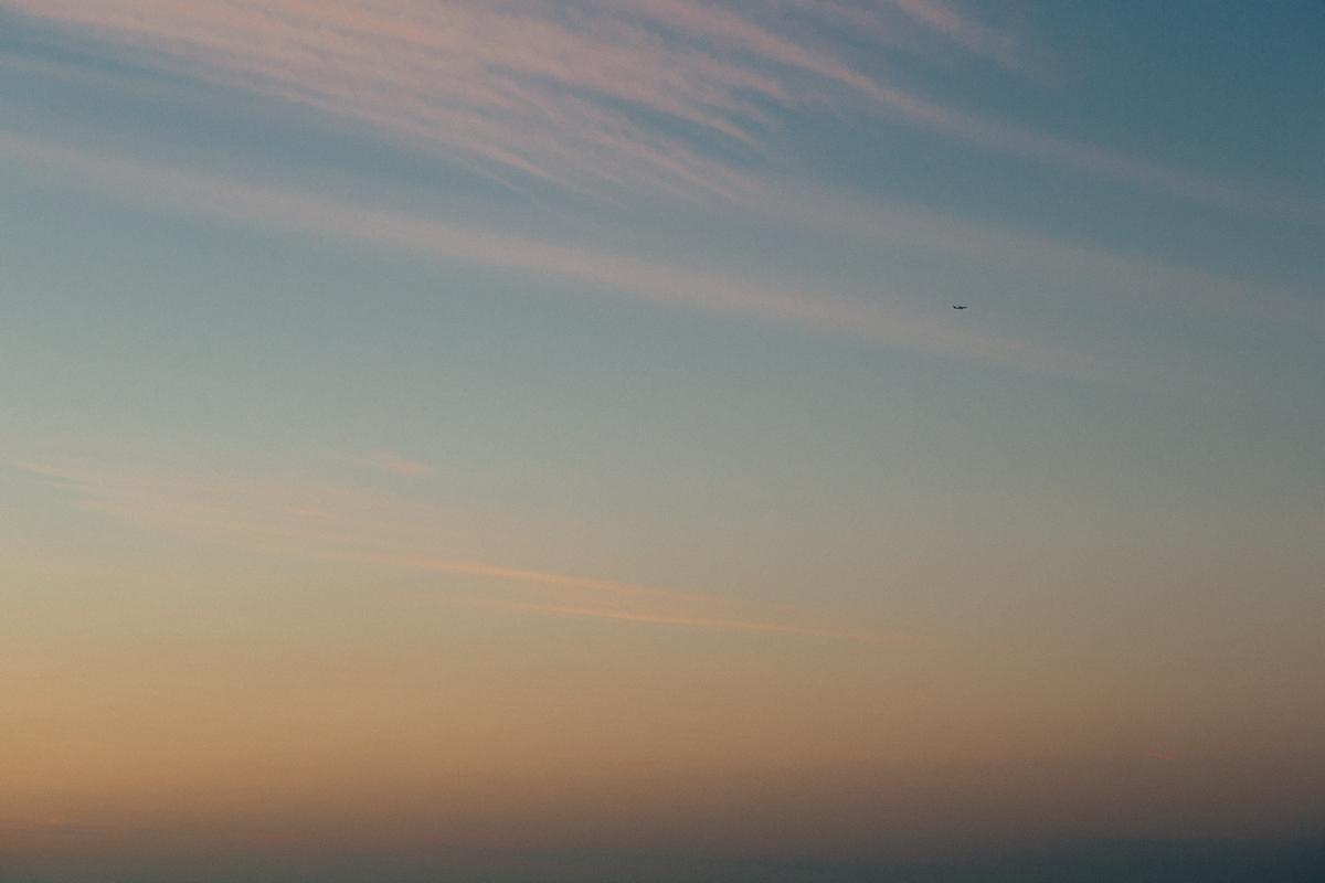Aeroplane in the sky over Sydney, Australia