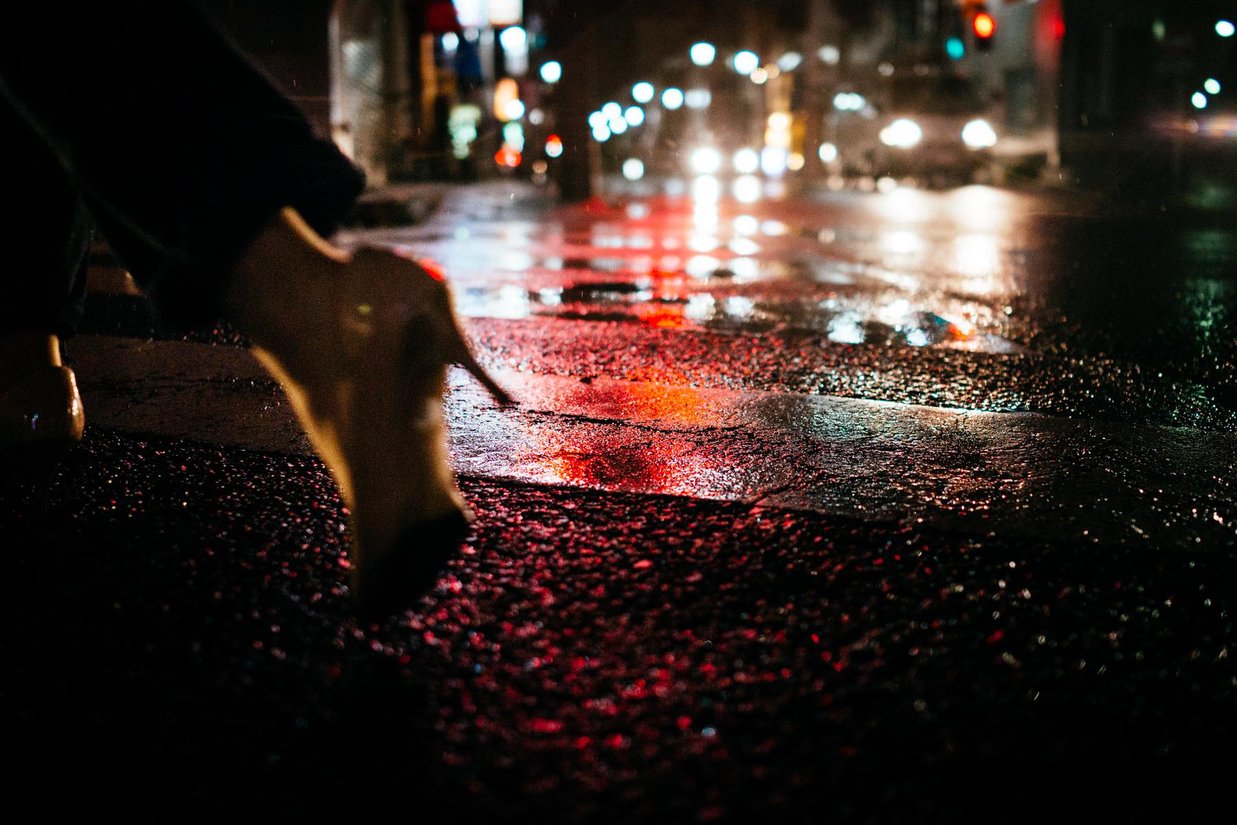 Heel in the rain