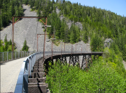 One of several trestle bridges along the course