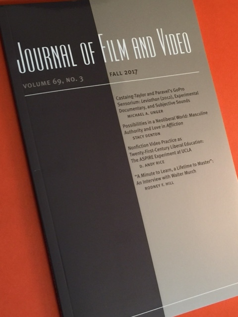 "Read the fall 2017 article on ASPIRE, ""Nonfiction Media Practice as Twenty-First-Century Liberal Education: The ASPIRE Experiment at UCLA"" in the  Journal of Film and Video  69.3  here !"