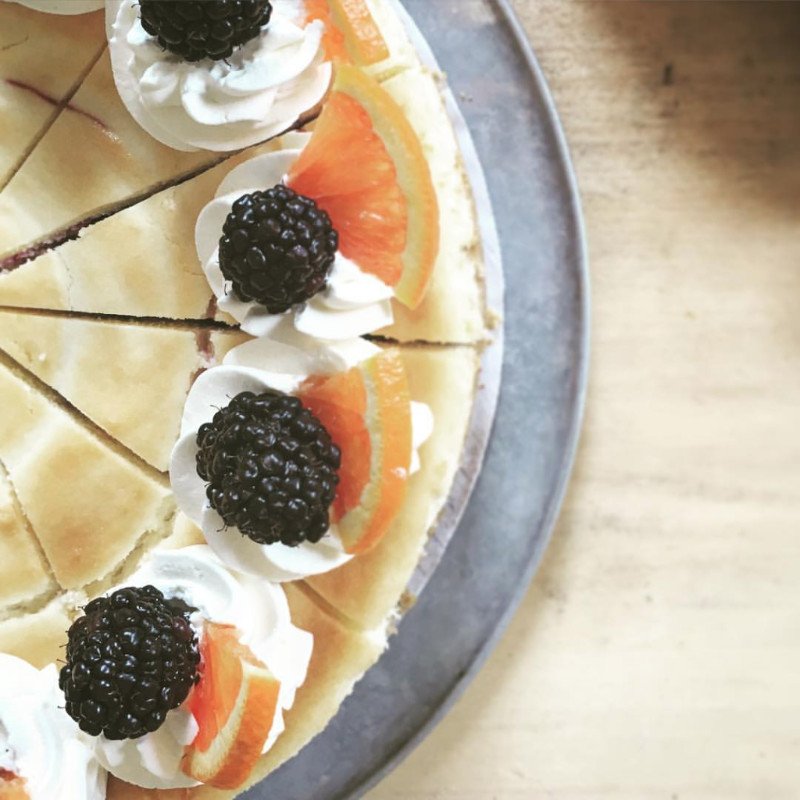 Housemade ricotta makes this blackberry cheesecake a necessity this Spring.