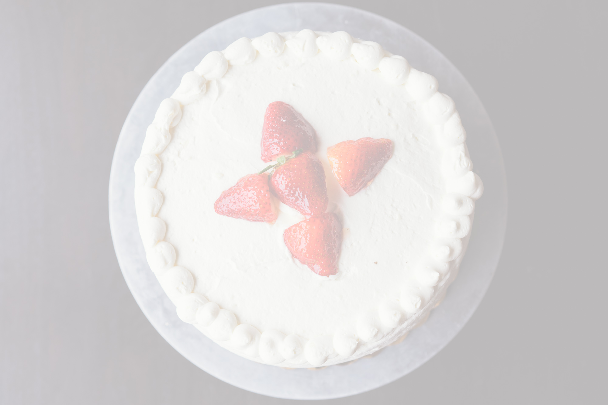 White Strawberry Chantilly$43.95 - Layers of yellow cake, Chantilly cream, fresh cut strawberries.